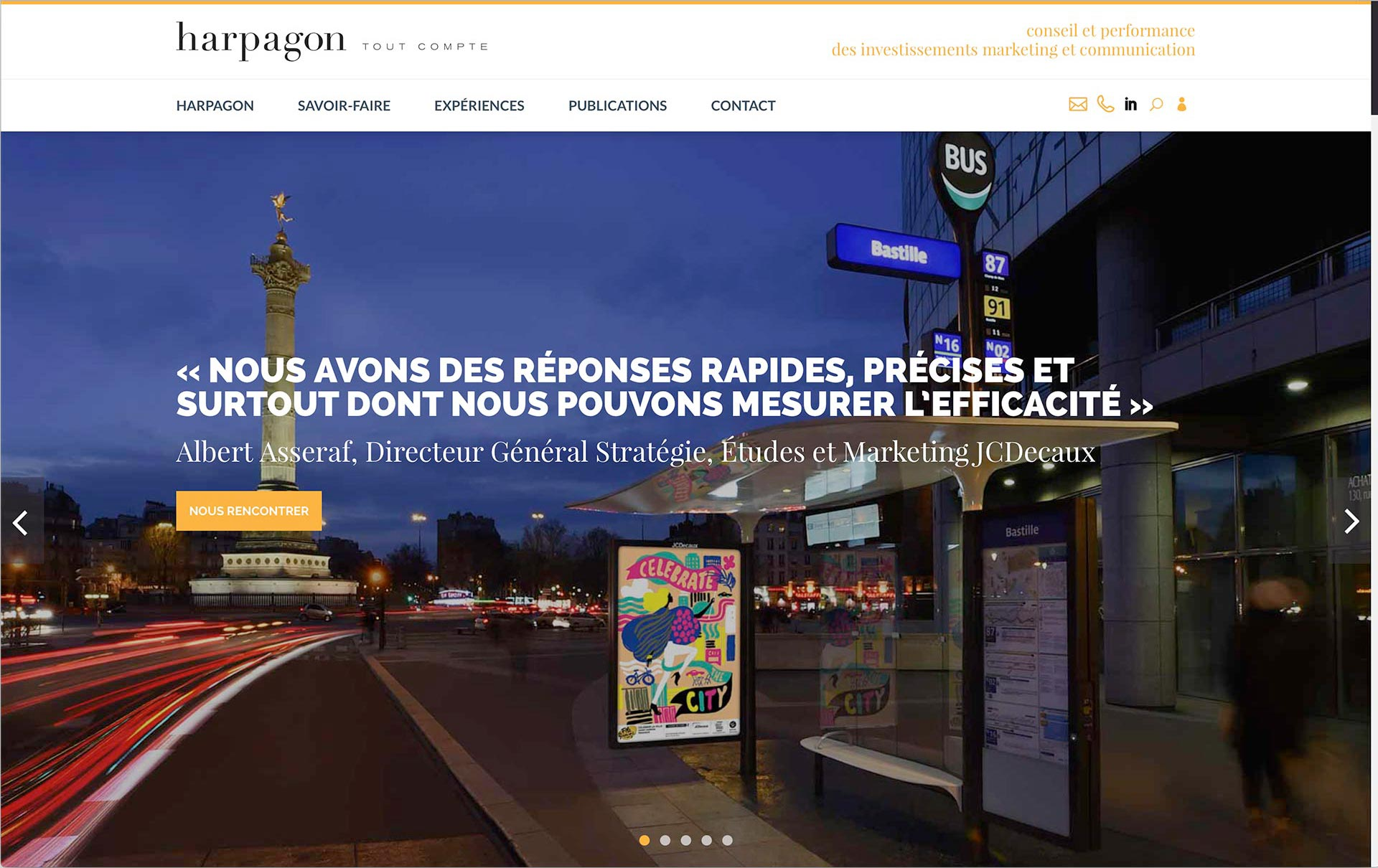 homepage harpagon JCDecaux efficacité